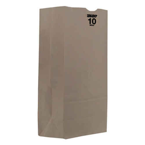 General #10 Paper Grocery Bag, 35lb White, Standard 6 5/16 x 4 3/16 x 12 3/8, 2000 bags (BAG GW10)