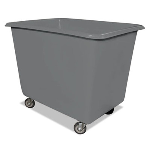 Royal Basket Trucks 8 Bushel Poly Truck w/Galvanized Steel Base, 26 x 38 x 28 1/2, 800 lbs Cap, Gray (RBT R8GRXPGA4UN)