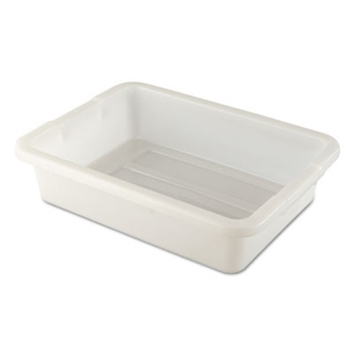 Rubbermaid Commercial Bus/Utility Tote, 20 x 15 x 5, White (RCP 3349 WHI)