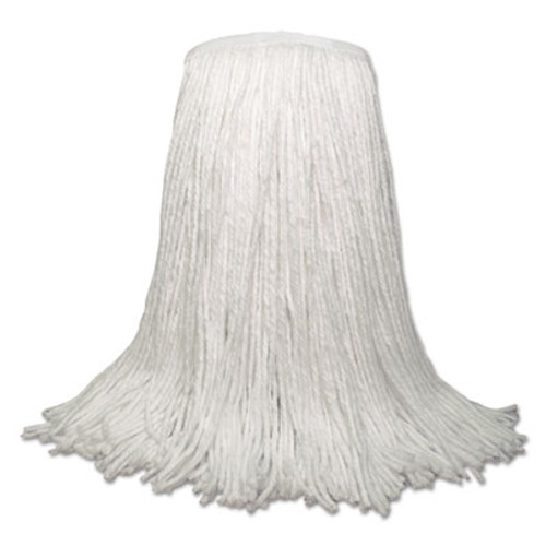 "Boardwalk Banded Rayon Cut-End Mop Heads, White, 20 oz, 1 1/4"" Headband, White, 12/Carton (BWK RM30020)"