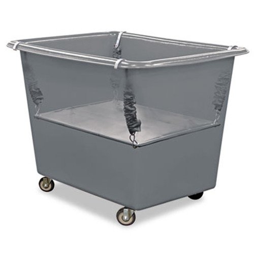 Royal Basket Trucks Poly Spring Lift, 21 x 31 1/2, 12 Bushel, Vinyl/Steel, Gray (RBT R12-GGX-PSN)