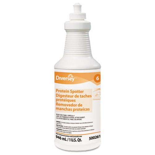 Diversey Protein Spotter, Fresh Scent, 32 oz Bottle, 6/Carton (DVO 5002611)