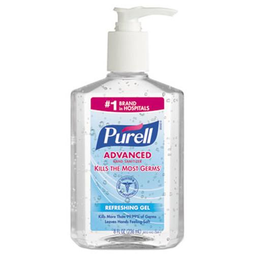 PURELL Advanced Instant Hand Sanitizer, 8oz Pump Bottle (GOJ 9652-12CMR)