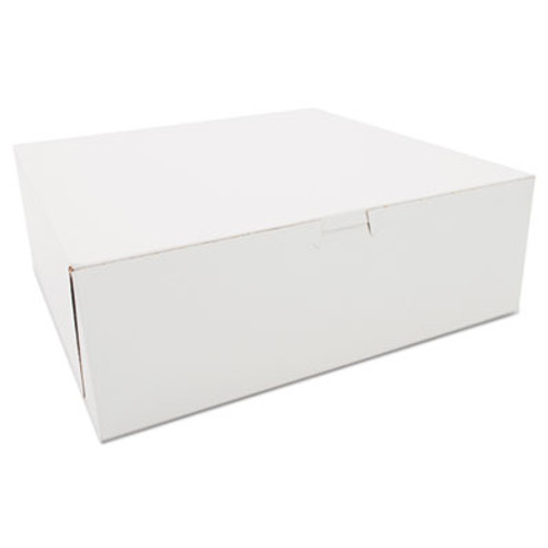 SCT Bakery Boxes, White, Paperboard, 12 x 12 x 4, 100/Carton (SCH 0985)