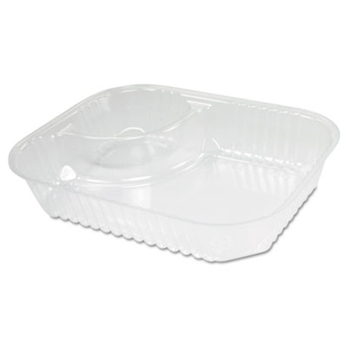 Dart ClearPac Large Nacho Tray, 2-Compartments, Clear, 500/Ctn (DCC C68NT2)