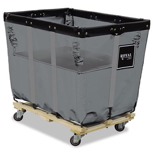 Royal Basket Trucks Spring Lift, 24 x 36, 16 Bushel, Vinyl/Steel, Gray (RBT R16-GGX-SLN)