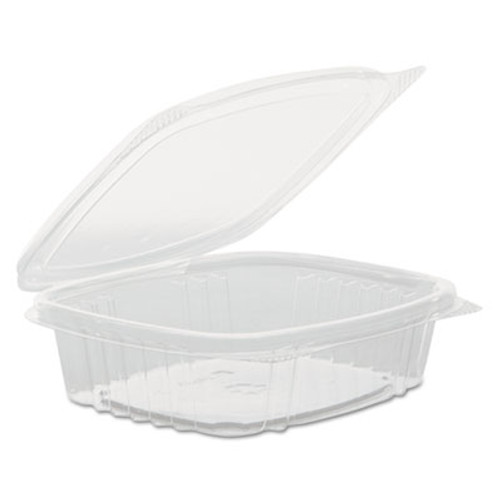 Genpak Clear Hinged Deli Container, High Dome Lid, APET, 8 oz,5 3/8 x 4 1/2 x 2, 200/Ct (GNP AD08F)
