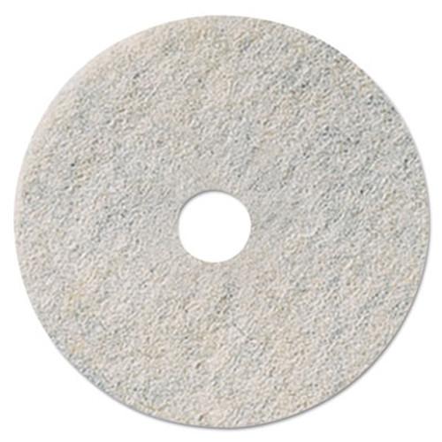 "3M Niagara Natural White Burnishing Pad, 27"" Diameter, White, 5/Carton (MCO 35085)"