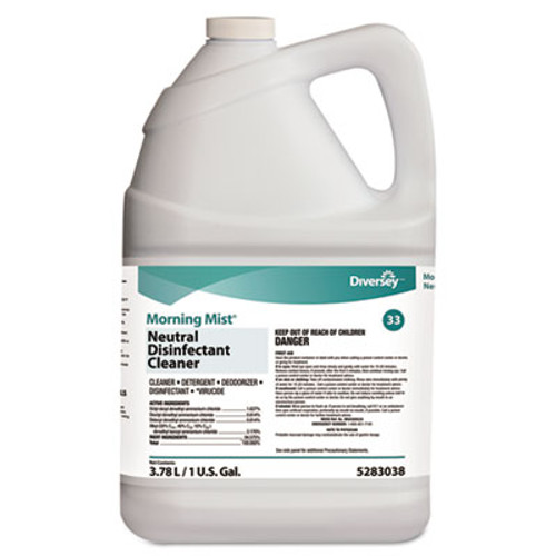 Diversey Morning Mist Neutral Disinfectant Cleaner, Fresh Scent, 1gal Bottle (DVO 5283038)