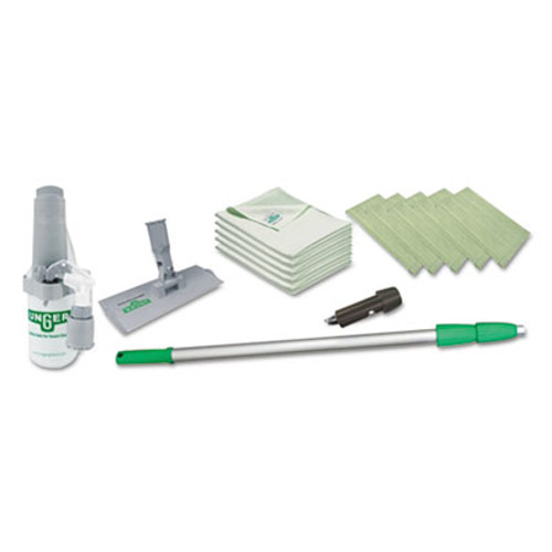"""Unger Indoor Window Cleaning Kit, Aluminum, 72"""" Extension Pole With 8"""" Pad Holder (UNG CK053)"""