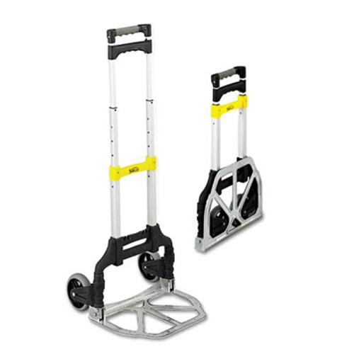 Safco Stow & Go Cart, 110lb Capacity, 15 1/4w x 16d x 39h, Aluminum (SFC 4049)