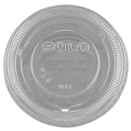 Dart No-Slot Plastic Cup Lids, 3.25-9oz Cups, Clear, 125/Sleeve, 20 Sleeves/Carton (DCC PL4N)