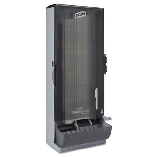 """Dixie SmartStock Utensil Dispenser, Knife, 10"""" x 8.78"""" x 24.75"""", Smoke (DXESSKPD120)"""