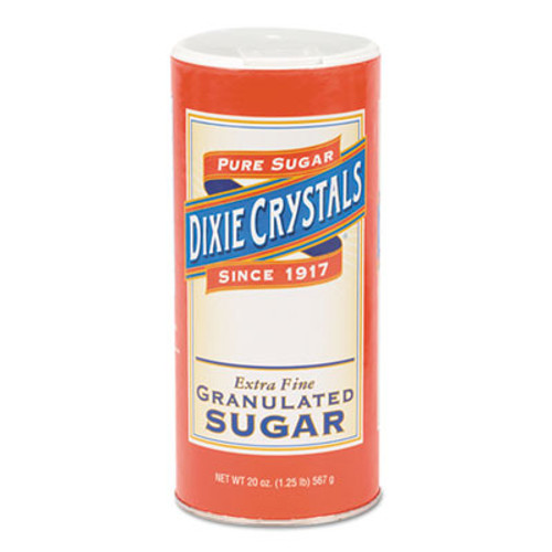 Diamond Crystal Granulated Sugar, 20 oz Canister, 24/Carton (MKL 24003)