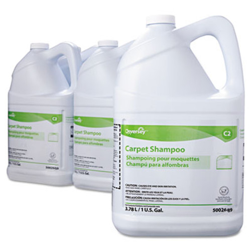 Diversey Carpet Shampoo, Floral, 1gal Bottle, 4/Carton (DVO 5002689)