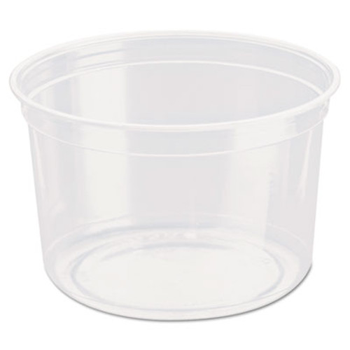 Dart Bare Eco-Forward RPET Deli Containers, 16 oz, Clear, 500/Carton (SCC DM16R)