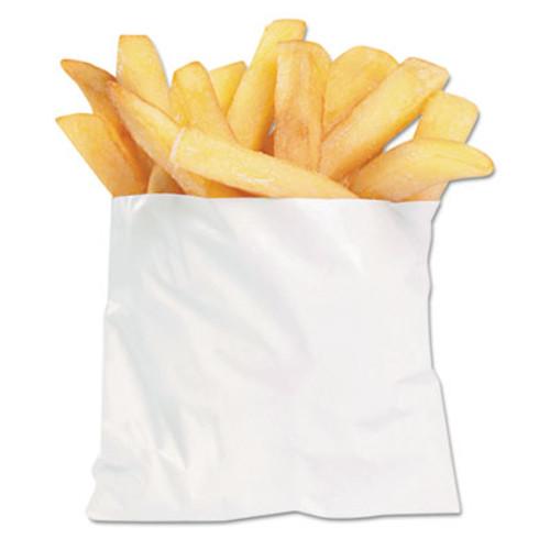 Bagcraft PB3 French Fry Bags, 4 1/2 x 2 x 3 1/2, White, 2000/Carton (BGC 450003)