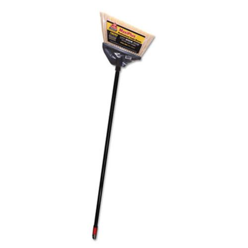 "O-Cedar MaxiPlus Professional Angle Broom, Polystyrene Bristles, 51"" Handle, Black, 4/CT (DVO 91351)"
