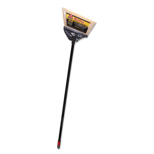 "O-Cedar MaxiPlus Professional Angle Broom, Polystyrene Bristles, 51"" Handle, Black, 4/CT (DVO 91351)"