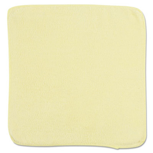 Rubbermaid Commercial Microfiber Cleaning Cloths, 12 x 12, Yellow, 24/Bag (RCP 1820580)