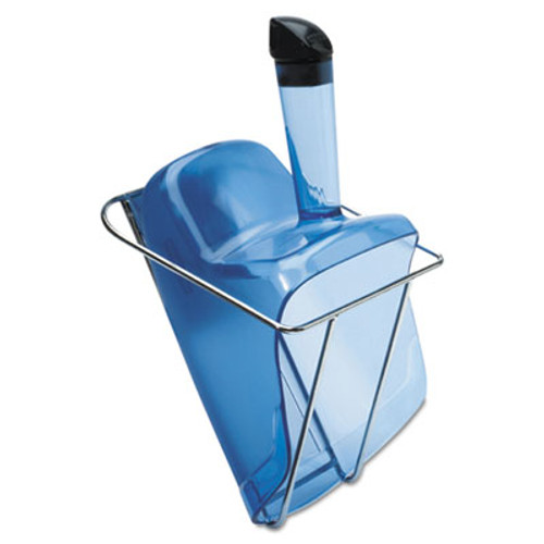 Rubbermaid Hand-Guard Scoop with Holder, 74oz, Transparent Blue (RCP 9F51 TBLU)