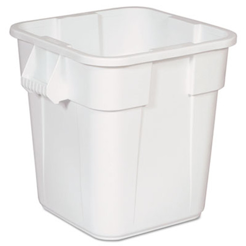 Rubbermaid Brute Square Containers, 28 gal, White (RCP 3526 WHI)