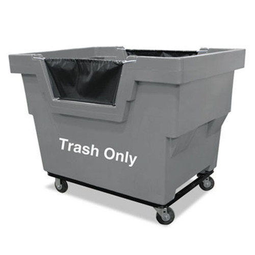 Royal Basket Trucks Mail Truck, Trash Only, 31 3/4 x 48 x 37, 1,000 lbs. Capacity, Gray (RBT R23GRXTM4UN)