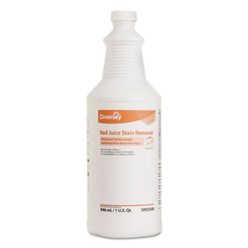 Diversey Red Juice Stain Remover, 32 oz, Bottle, 6 Bottles/Carton (DVO 5002540)