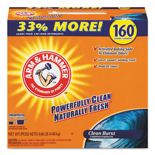 Arm & Hammer Powder Laundry Detergent, Clean Burst, 11.9 lb, Box, 3/Carton (CDC 33200-06521)