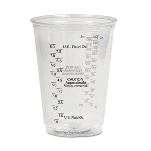 Dart Plastic Medical & Dental Cups, Graduated, 10 oz, Clear, 50/Bag, 20 Bags/Carton (SCC TP10DGM)