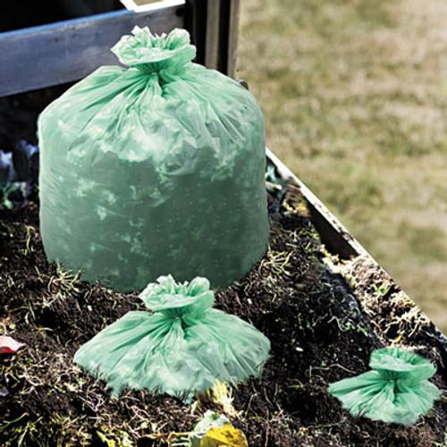Stout EcoSafe-6400 Compostable Compost Bags, 1.1mil, 30 x 39, Green, 48/Box (STO E3039E11)