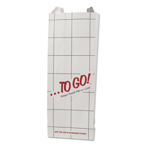 Bagcraft ToGo! Foil Insulator Deli & Sandwich Bags, 4x10 1/2, Gray, Red, White, 1000/CT (BGC 300505)