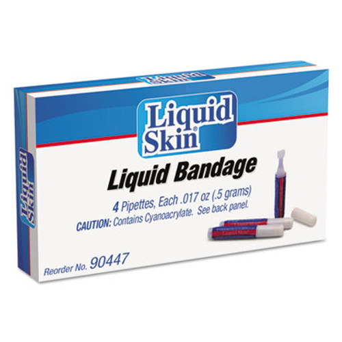 PhysiciansCare Liquid Bandage, 0.017 oz Pipette, 4/Box (ACM90447)