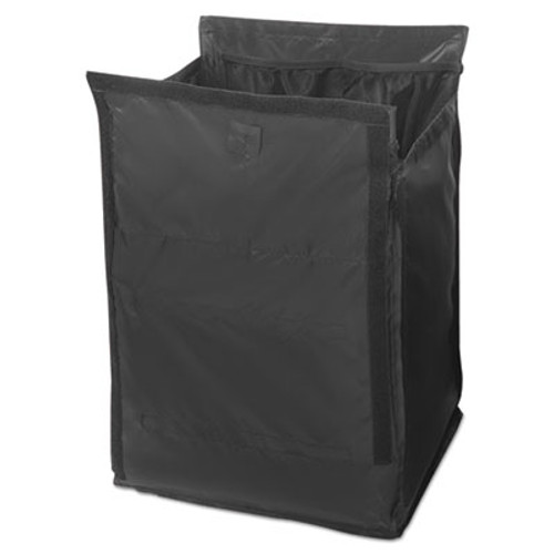 Rubbermaid Executive Quick Cart Liner, Small, 12 4/5 x 16 x 14 1/2, Black (RCP 1902703)