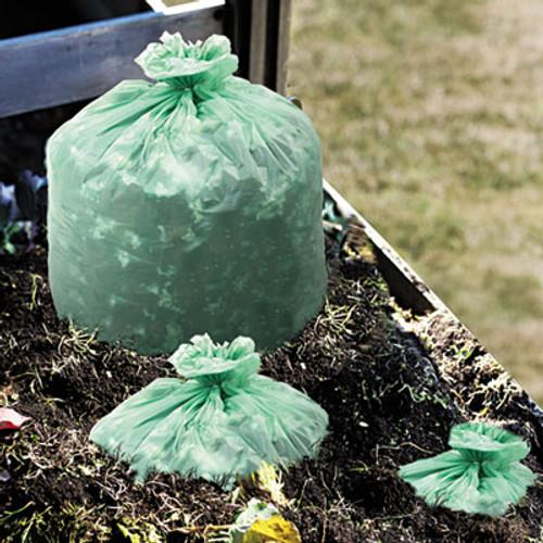 Stout EcoSafe-6400 Compostable Compost Bags, .85mil, 33 x 48, Green, 50/Box (STO E3348E85)