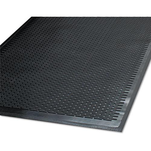 Guardian Clean Step Outdoor Rubber Scraper Mat, Polypropylene, 48 x 72, Black (MLL14040600)