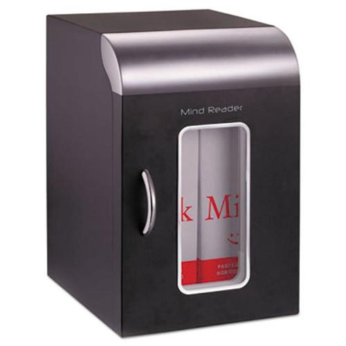 Mind Reader Cube Mini Coffee Station Refrigerator, 0.21 Cu. Ft, Black w/Chrome Handle (EMSREF01BLK)