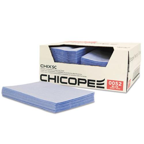 Chix SC Foodservice Towels, 13 x 21, Blue, Polyester, 100/Carton (CHI 0052)