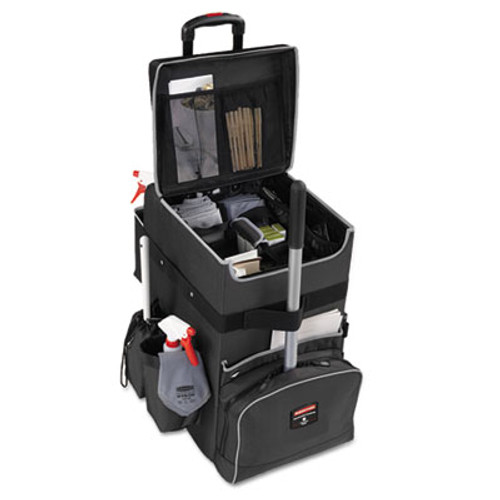 Rubbermaid Executive Quick Cart, Large, 14 1/4 x 16 1/2 x 25, Dark Gray (RCP 1902465)