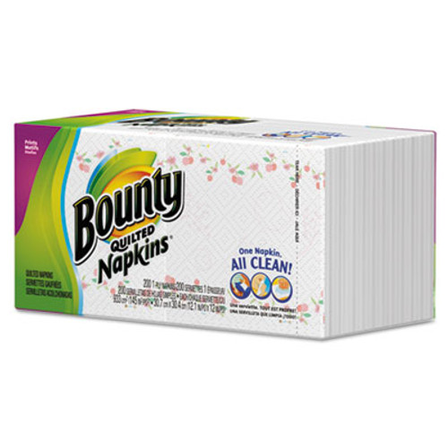 Bounty Quilted Napkins, 1-Ply, 12 1/10 x 12, Prints, 200/Pack (PGC 34885CT)