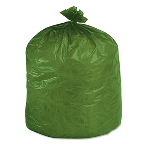 Stout Eco-Degradable Plastic Trash Garbage Bag, 33gal, 1.1mil, 33 x 40, Green, 40/Box (STOG3340E11)