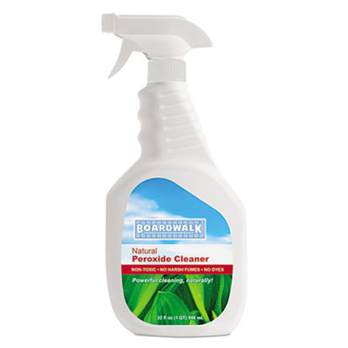 Boardwalk Natural Multi-Purpose Hydrogen Peroxide Cleaner, 32 oz Spray Bottle, 12/Ctn (BWK37412)