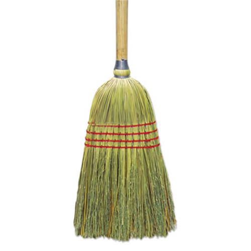 "Boardwalk Upright Corn/Fiber Broom, 56"", Lacquered Wood Handle, Natural, 6/Carton (BWK BR10012)"