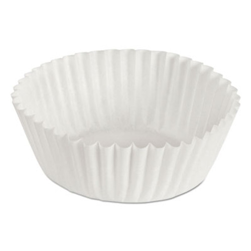 "Hoffmaster Fluted Bake Cups, 1 1/8"" x 1 1/8"" x 1 3/4"", White, 500/Pack, 20 Packs/Carton (HFM 610020)"