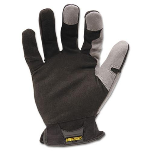 Ironclad Workforce Glove, Large, Gray/Black, Pair (IRNWFG04L)