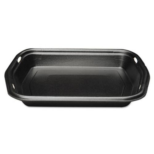 Genpak Large Serving Tray, Foam, Black, 10 1/5 x 8 7/8 x 1 1/4, 125/Bag, 2 Bags/Carton (GNP 50010-3L)