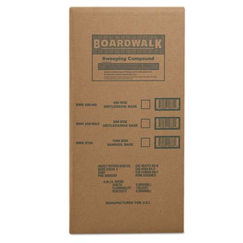 Boardwalk Oil-Based Sweeping Compound, Powder, 100-lb Box (BWK 9100)