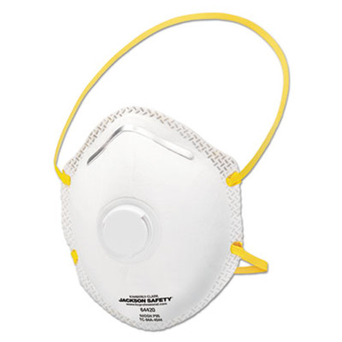 Jackson Safety* R20 Particulate Respirator Single Valve, P95, White/Yellow, 10/Pack, 8 Packs/CT (KCC 64420)