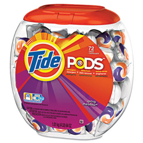 Tide Detergent Pods, Spring Meadow Scent, 72 Pods/Pack, 4 Packs/Carton (PGC 50978CT)