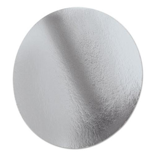 "Handi-Foil of America Foil Laminated Board Lids, Round, 8 1/4"" Diameter, Silver, 500/Carton (HFA 2058L)"